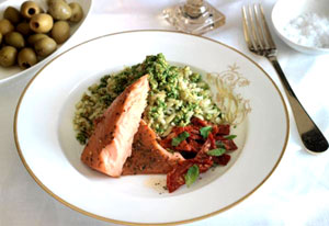 salmon-and-Rice-with-Pesto