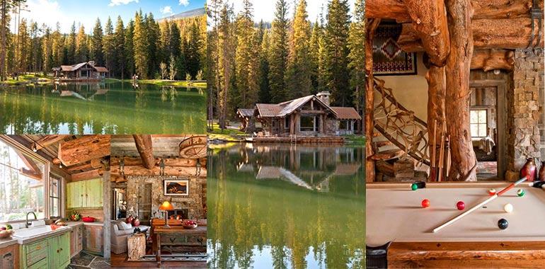 Wood House at the lake