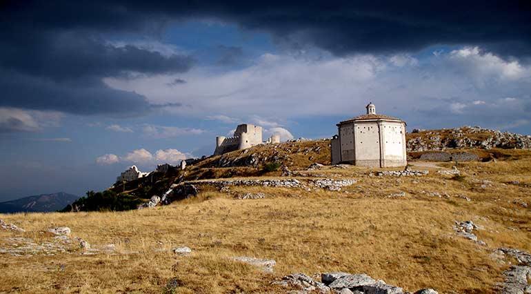 The castle Rocca Calascio Abruzzo