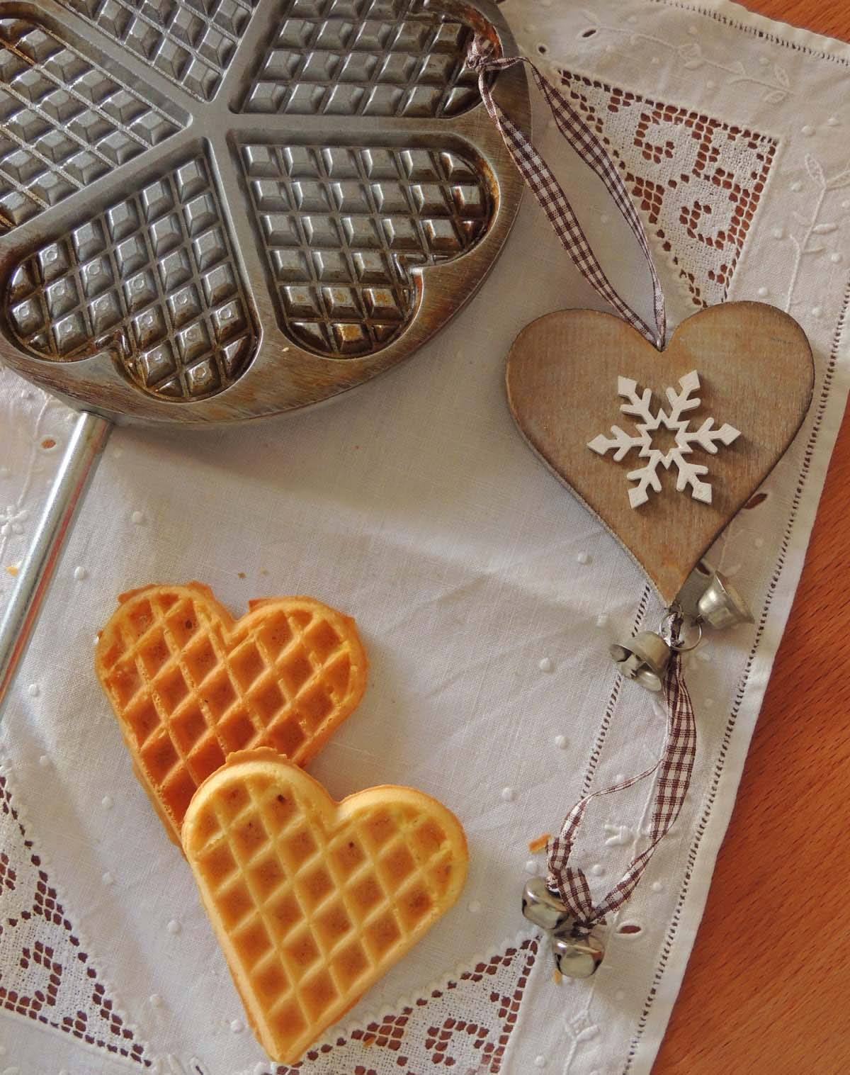 pizzelle heart-shaped