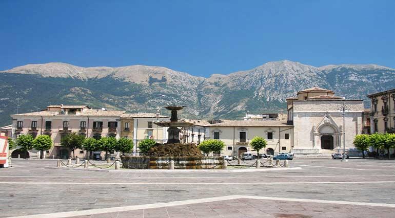 The city of Sulmona L'Aquila, Abruzzo, Italy