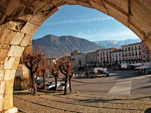 The-city-of-Sulmona- L'Aquila- Abruzzo- Italy