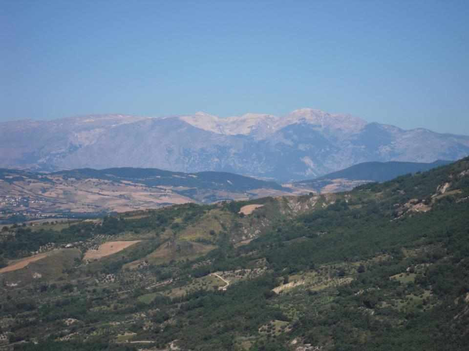 Views from Palmoli, the Majella, in summer