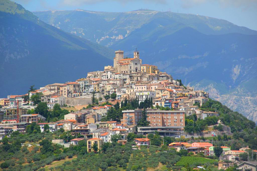 The village of Casoli, Chieti, Abruzzo green region of Europe