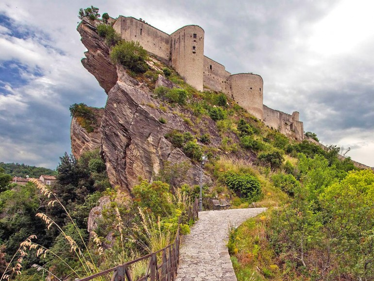 The Castle of Roccascalegna Abruzzo in the heart of Italy