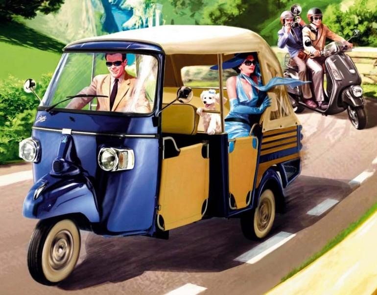 Italian european Vehicle Ape 50 around the world