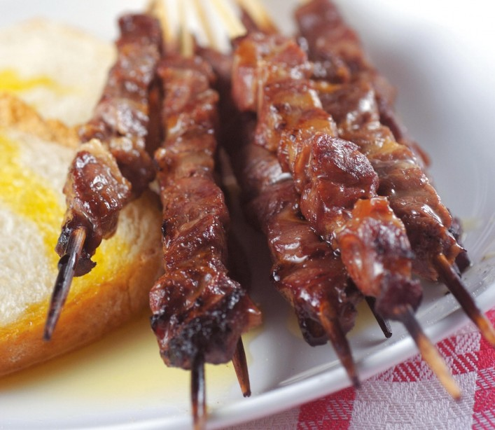 The arrosticini are by far the most popular dish from Abruzzo