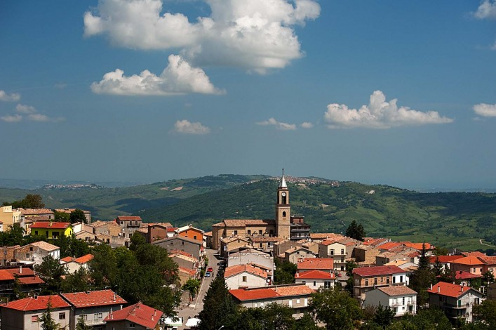 Roccaspinalveti village in the Province of Chieti, Abruzzo Region