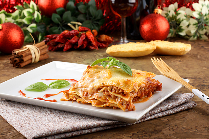 Lasagna traditional and tasty Italian dish