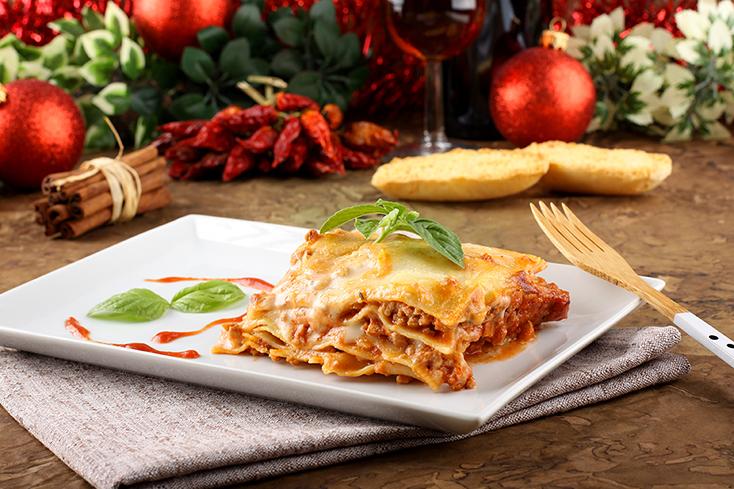 Lasagna traditional and tasty Italian dish