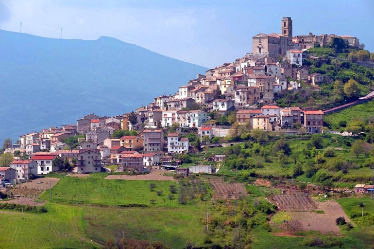 Carunchio town in Abruzzo inside the Natural Park, Italian villages