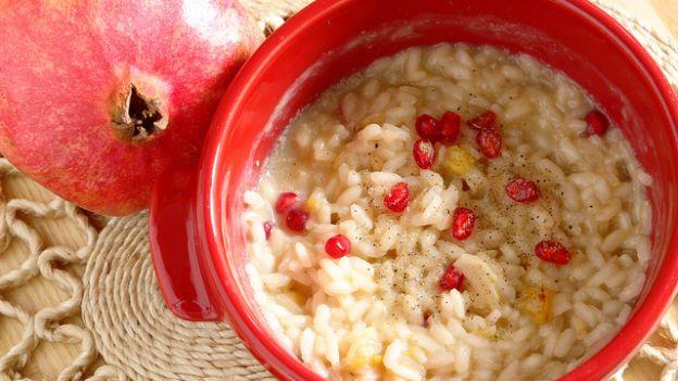 risotto-red-pomegrenate