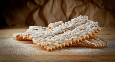 Chiacchiere of carnival typical dessert